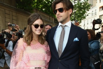 PARIS, FRANCE - JULY 04:  Olivia Palermo and Johannes Huebl attend  the Valentino Haute-Couture Show as part of Paris Fashion Week Fall / Winter 2012/2013 at Hotel Salomon de Rothschild on July 4, 2012 in Paris, France.  (Photo by Julien M. Hekimian/Getty Images)