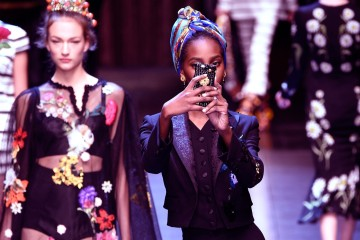 MILAN, ITALY - SEPTEMBER 27:  (EDITORS NOTE: Image was altered with digital filters.) An instant view of the Dolce & Gabbana fashion show during Milan Fashion Week Spring/Summer 2016 on September 27, 2015 in Milan, Italy.  (Photo by Pietro D'Aprano/Getty Images)