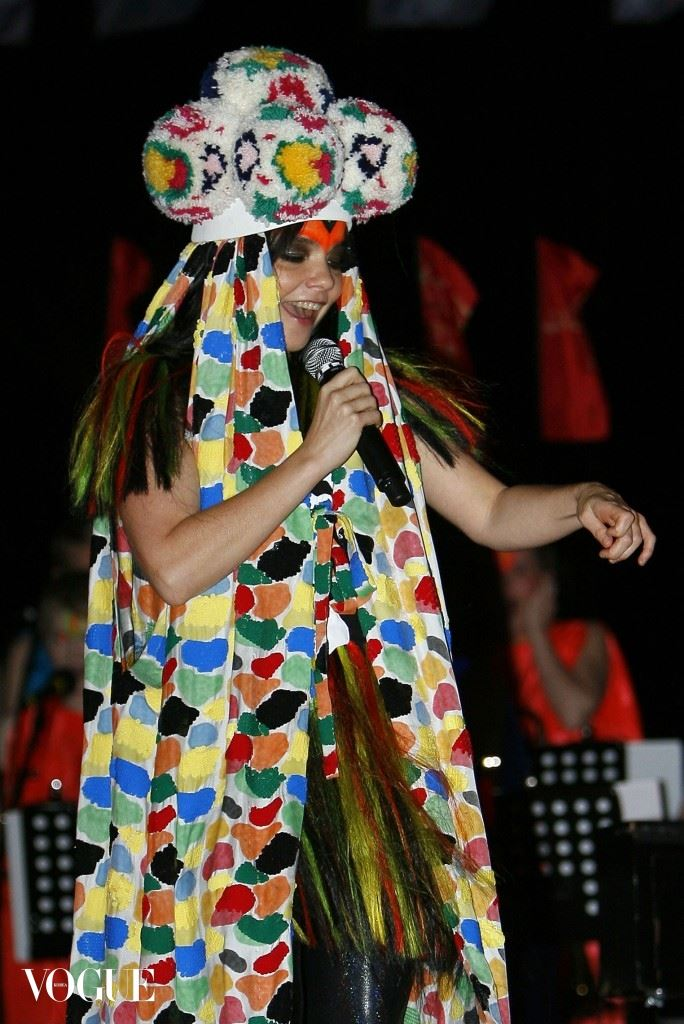 Bjork performing at Coachella
