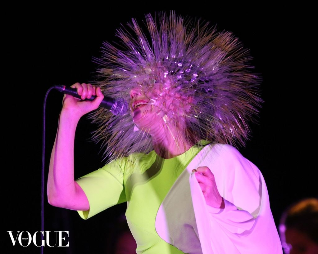 Bjork performs in concert in New York