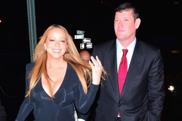 EXCLUSIVE: ***PREMIUM EXCLUSIVE RATES APPLY***NO WEB UNTIL 1.30AM PST, JANUARY 23, 2015*** Newly-engaged Mariah Carey shows off her huge engagement ring as she steps out with James Packer in New York City. Billionaire Packer popped the question in front of Mariah's closest friends at a private dinner at Eleven Madison Park.  Photos taken on January 21st 2016  Pictured: AB Ref: SPL1213219  220116   EXCLUSIVE Picture by: 247PAPS.TV / Splash News  Splash News and Pictures Los Angeles:	310-821-2666 New York:	212-619-2666 London:	870-934-2666 photodesk@splashnews.com