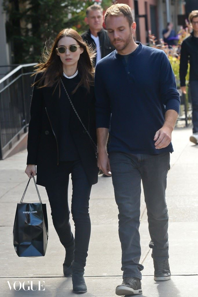 Charlie McDowell, Rooney Mara out walking in Soho holding hands in NYC