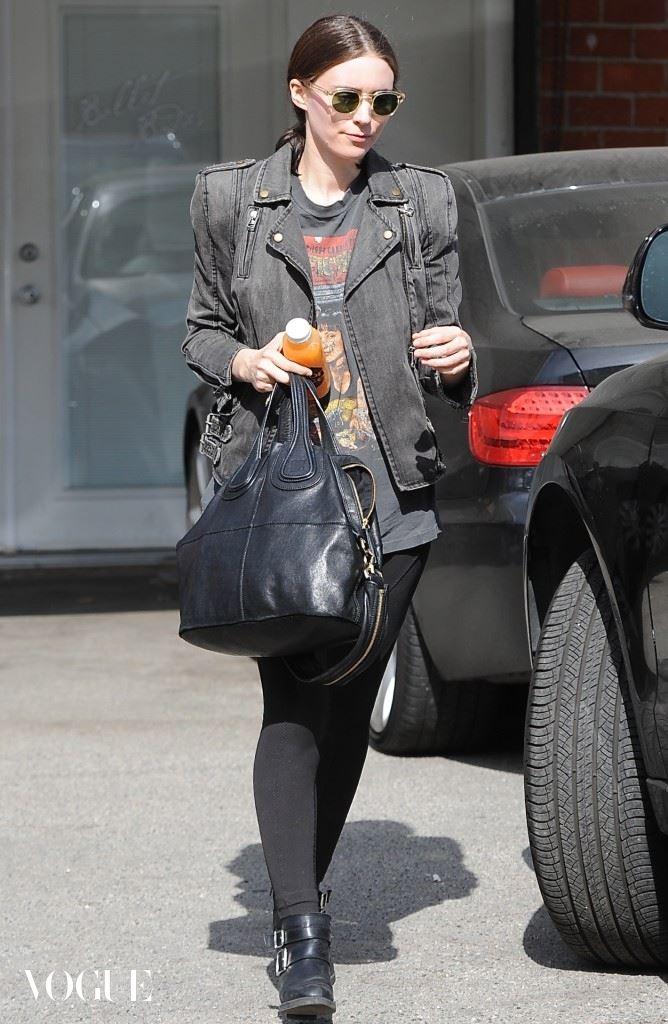 Rooney Mara exits her gym class