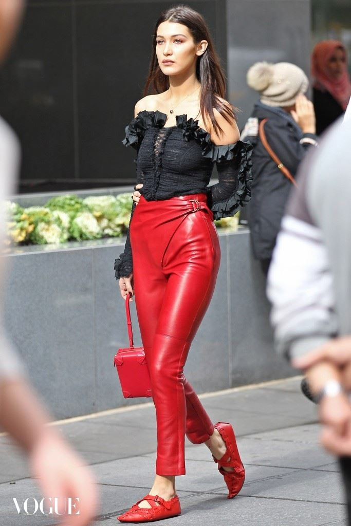 EXCLUSIVE: Bella Hadid photo shoot in New York
