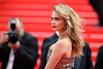 "CANNES, FRANCE - MAY 21:  Cara Delevingne attends ""The Search"" premiere during the 67th Annual Cannes Film Festival on May 21, 2014 in Cannes, France.  (Photo by Pascal Le Segretain/Getty Images)"
