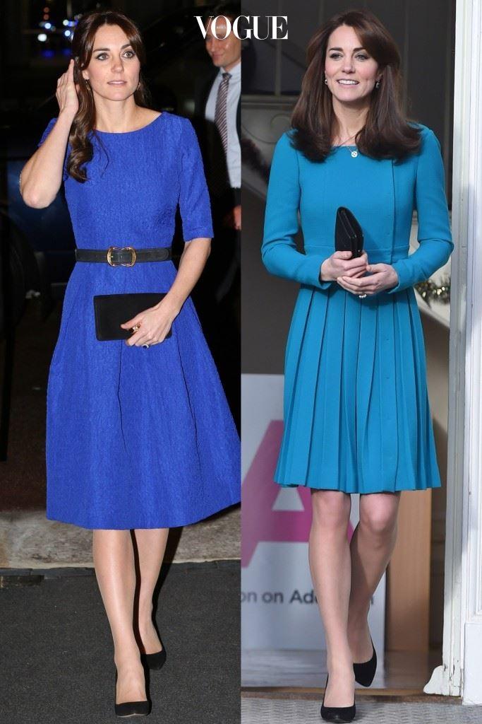 파란색을 포인트 컬러로 활용해 발랄한 분위기를 살리는 평상시 스타일,