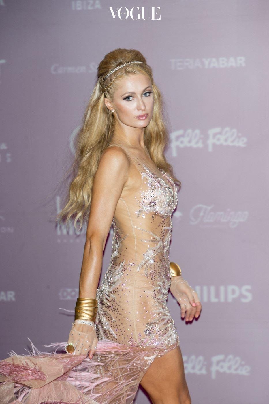 IBIZA, SPAIN - JULY 18: Paris Hilton presents 'Foam & Diamonds' on July 18, 2015 in Ibiza, Spain. (Photo by Iconic/All/Getty Images)