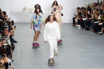 LONDON, ENGLAND - SEPTEMBER 22:  Models walk the runway at the Ashish show during London Fashion Week Spring/Summer 2016/17 on September 22, 2015 in London, England.  (Photo by Stuart C. Wilson/Getty Images)