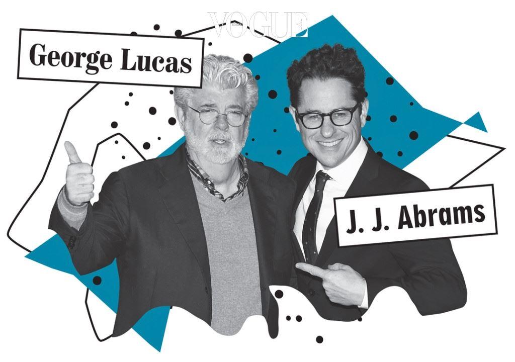 J.J. 에이브럼스 VS. 조지 루카스 새롭게  시리즈 감독을 맡은 J.J. 에 이브럼스와 시리즈의 최초 감독 조지 루카스 사이를 이간질하려는 뉴스가 어마어마하 게 많기 때문이다. 조지 루카스가 이 영화를 보고 마음에 안 들어 했다는 둥 소문도 들리 고 심지어 스타워즈 광팬들 사이에서는 가 을 표절했다는 황당한 의견도 제기됐다. J.J. 에이브럼스는 대중오락적인 만듦새 때문에 종종 스티븐 스틸버그와 비견되곤 했지만 사실 그의 머릿속에는 조지 루카스적 세계관이 가득하다. 생각해보면 그가 영화 속에 심어놓았던 수많은 떡밥은 '포스'라는 황당한 에너지를 만들어낸 조지 루카스로부 터 배운 것이다.