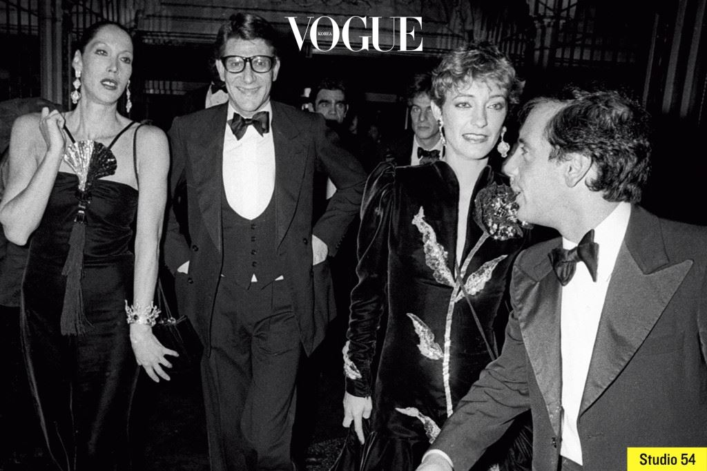 그의 애프터 파티는 패션 역사에서 결정적 순간으로 꼽힌다. 향수 '오피움' 론칭 파티를 그 시절 뉴욕에서 가장 잘나가는 클럽 스튜디 오 54에서 열었으니 말이다.