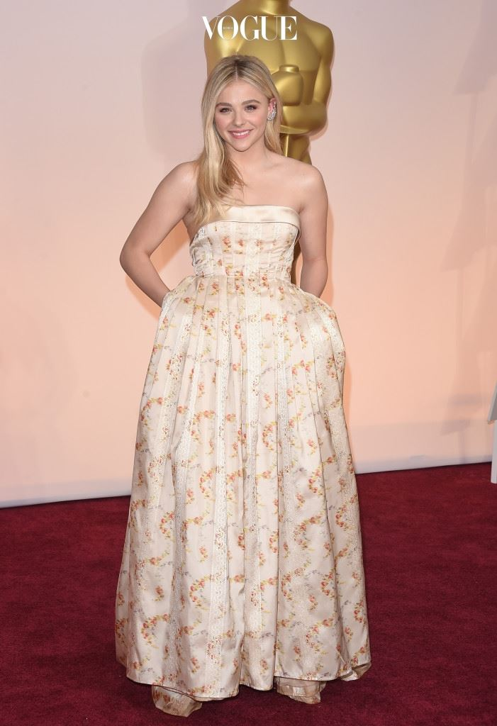 HOLLYWOOD, CA - FEBRUARY 22:  Actress Chloe Grace Moretz attends the 87th Annual Academy Awards at Hollywood & Highland Center on February 22, 2015 in Hollywood, California.  (Photo by Jason Merritt/Getty Images)