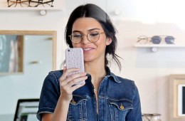 EXCLUSIVE: **EXCLUSIVE**  Date: September 25th 2015  Photo Credit : MOVI Inc.  Model Kendall Jenner cracks a rare smile as she improves her 'specs' appeal trying out some some cool frames at Garrett Leight California Optical in Hollywood,Ca. The chic 19-year-old looked stunning as she smiled for some selfies in some round specs. 2nd Rights USA, Australia, NO DAILY MAIL ONLINE, NO ARGENTINA, AUSTRIA, BRAZIL, FRANCE, GERMANY, GUATEMALA, HAITI, ITALY, MEXICO, PERU  Pictured: Kendall Jenner Ref: SPL1139453  290915   EXCLUSIVE Picture by: Splash News  Splash News and Pictures Los Angeles:	310-821-2666 New York:	212-619-2666 London:	870-934-2666 photodesk@splashnews.com