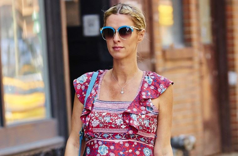 EXCLUSIVE: Nicky Hilton spotted wearing a boho-chic pink floral dress while running errands in NYC  Pictured: Nicky Hilton Ref: SPL1287311  200516   EXCLUSIVE Picture by: J. Webber / Splash News  Splash News and Pictures Los Angeles:310-821-2666 New York:212-619-2666 London:870-934-2666 photodesk@splashnews.com