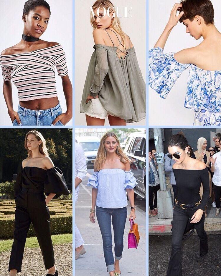 (왼쪽부터 시계방향으로)Topshop, Tibi, Zara, Kendall Jenner, Olivia Palermo, The Row