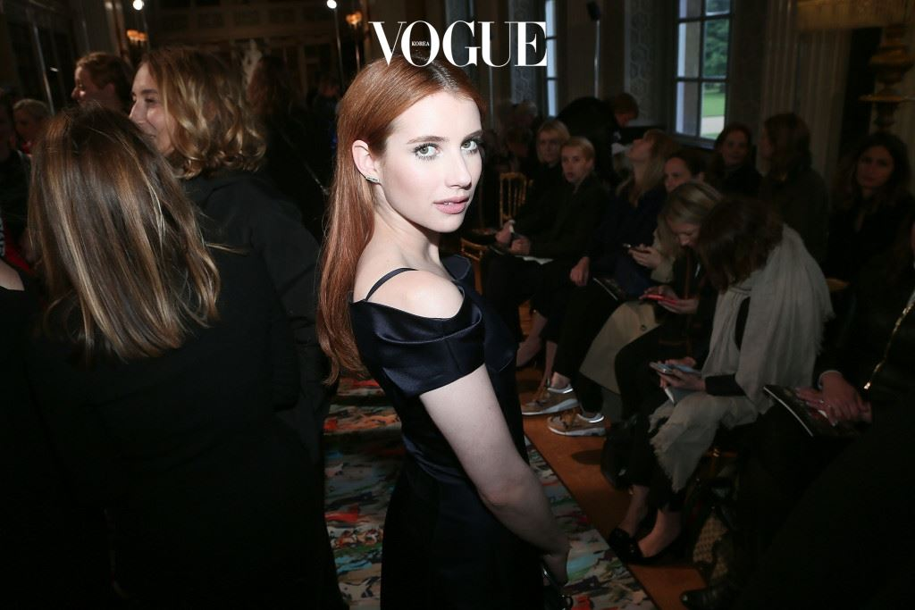 WOODSTOCK, ENGLAND - MAY 31:  Emma Roberts attends the Dior Cruise Collection show 2017 at Blenheim Palace on May 31, 2016 in Woodstock, England.  (Photo by Victor Boyko/Getty Images for Dior)