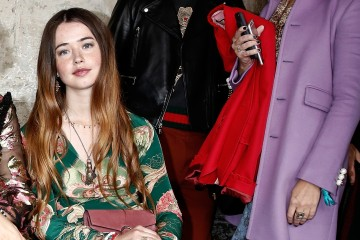 LONDON, ENGLAND - JUNE 02:  (L to R) Flo Morrissey, Soko and ASAP Rocky attend the Gucci Cruise 2017 fashion show at the Cloisters of Westminster Abbey on June 2, 2016 in London, England.  (Photo by John Phillips/Getty Images for GUCCI)