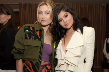 "LOS ANGELES, CALIFORNIA - APRIL 11:  Model Hailey Baldwin (L) and tv personality Kylie Jenner attend the ""Fresh Faces"" party, hosted by Marie Claire, celebrating the May issue cover stars on April 11, 2016 in Los Angeles, California.  (Photo by Jason Kempin/Getty Images for Marie Claire)"