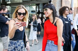 SYDNEY, AUSTRALIA - MAY 16: Guests arrive ahead of the Misha Collection show at Mercedes-Benz Fashion Week Resort 17 Collections at Carriageworks on May 16, 2016 in Sydney, New South Wales.  (Photo by Caroline McCredie/Getty Images)