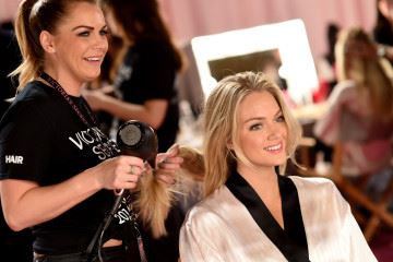 LONDON, ENGLAND - DECEMBER 02: Lindsay Ellingson is seen backstage prior the 2014 Victoria's Secret Fashion Show on December 2, 2014 in London, England.  (Photo by Dimitrios Kambouris/Getty Images for Victoria's Secret)