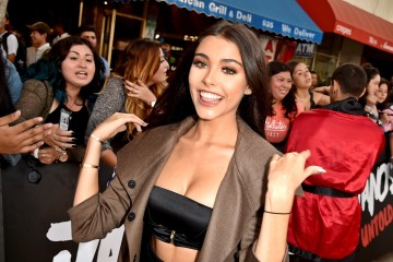 "LOS ANGELES, CA - AUGUST 25:  Madison Beer arrives at the premiere of Awesomeness TV's ""Janoskians: Untold and Untrue"" at the Bruin Theatre on August 25, 2015 in Los Angeles, California.  (Photo by Kevin Winter/Getty Images)"