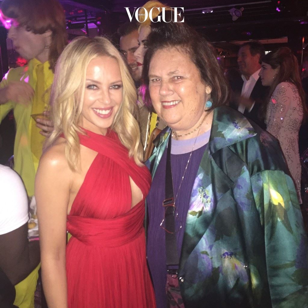 Kylie Minogue with Suzy  SUZYMENKESVOGUE