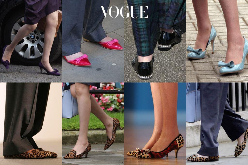 대처 전 총리의 패션 키워드로 핸드백을 꼽는다면, 차세대 테레사 메이 총리는 '다양한 신발들'로 대변됩니다.