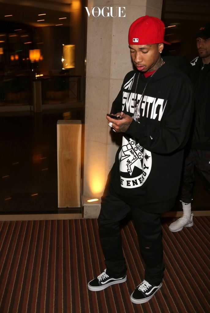 Tyga, aka Michael Ray Nguyen-Stevenson and boyfriend of Kylie Jenner, leaves his hotel for a concert in Munich, Germany. Pictured: Tyga Ref: SPL1287937  130716   Picture by: Matt Summer Splash News and Pictures Los Angeles:310-821-2666 New York: 212-619-2666 London:870-934-2666 photodesk@splashnews.com