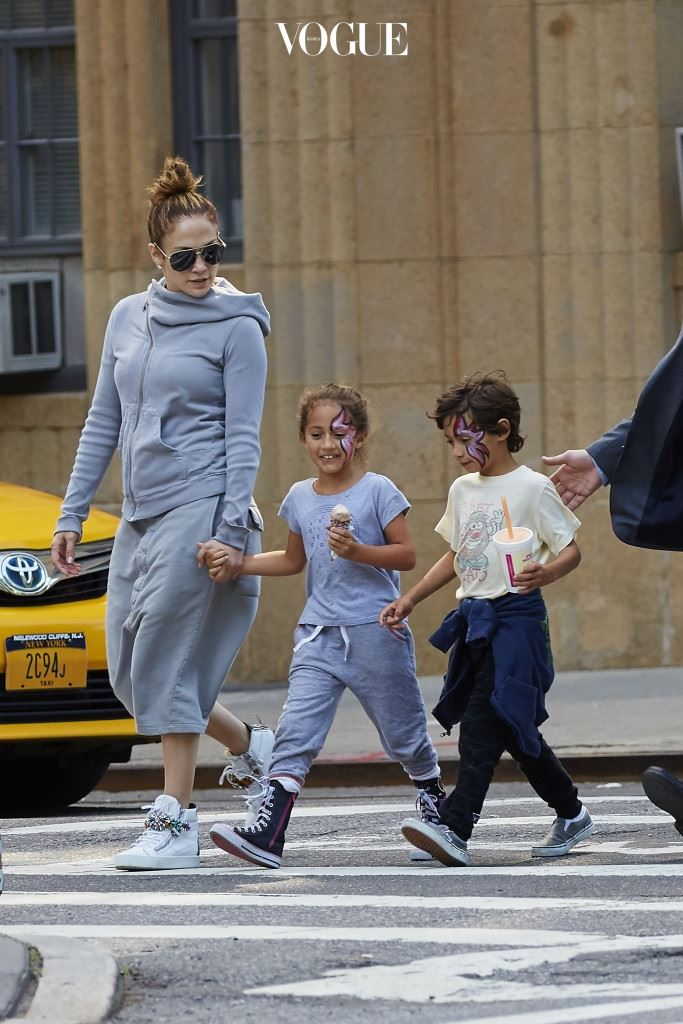 제니퍼 로페즈와 쌍둥이 남매 맥스와 에메랄드 (Jennifer Lopez, Max and Emme)