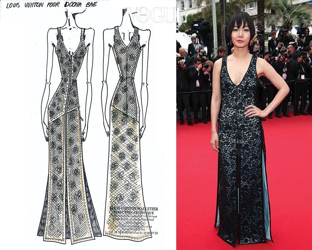 배두나는 제스키에르가 그녀만을 위해 디자인한 드레스를 입고 칸의 여신이 됐다. 루이 비통 캠페인 모델이 된 최초의 한국 여배우 역시 배두나다.