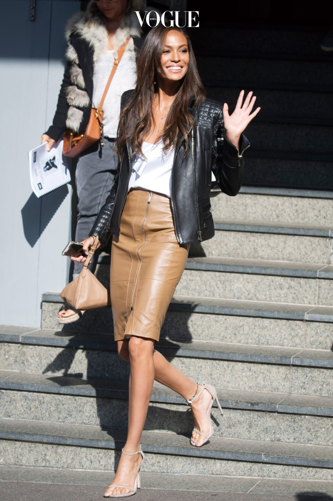 ***EXCLUSIVE***Joan Smalls transforms her look from ultra casual to ultra chic.