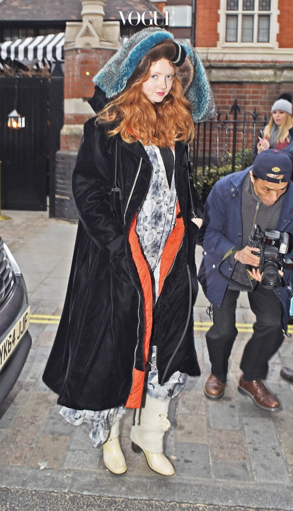 INF - Lily Cole Bundles Up