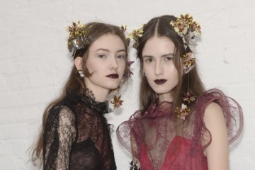 Rodarte womenswear backstage,  New York, Autumn/Winter2016. Copyright James Cochrane February 2016. Tel +447715169650 Email james@jamescochrane.net