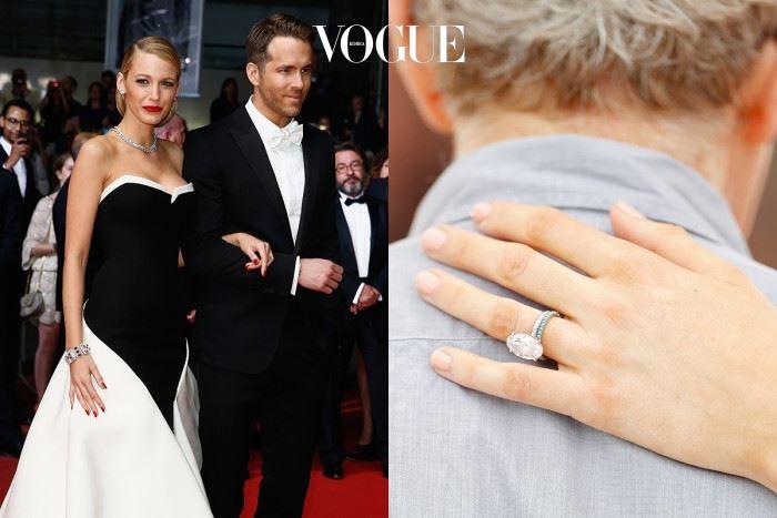 블레이크 라이블리 라이언 레이놀즈 $2,000,000(약 22억 6천만 원) 2012년 결혼 후, 얼마전 사랑스러운 둘째 딸을 출산한 사랑스러운 블레이크 라이블리(Blake Lively). 그녀에게 딱 어울리는 반지를 선물하고 싶었다는 라이언 레이놀즈 (Ryan Reynolds). 12캐럿 로즈 골드 다이아몬드를 선물했습니다.