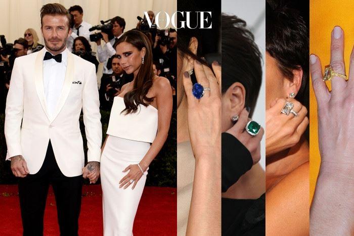 빅토리아 베컴 데이비드 베컴 1998년, 결혼에 골인한 베컴 커플. 데이비드 베컴(David Beckham)은 18년이 넘는 결혼 기간동안 무려 15번의 반지를 선물했다고 합니다. 사진 속 맨 오른쪽에 자리한 옐로우 다이아몬드는 40번째 생일 겸 15년 결혼 기념일에 선물한 반지.