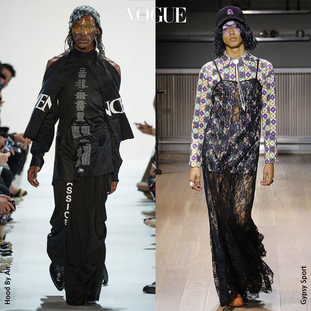 #GENDER HOOD BY AIR VS GYPSY SPORT 젊은 디자이너에게 드레스를 입는 남자는 새롭지 않다. 그것도 과감한 뉴욕의 신성들이라면.