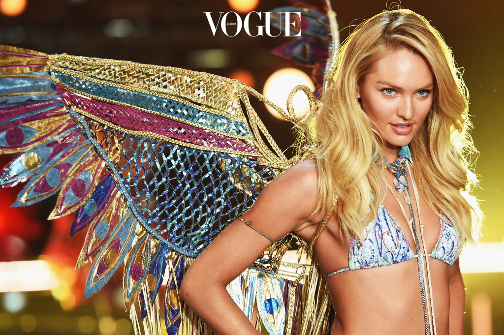 NEW YORK, NY - NOVEMBER 10:  Model and Victoria's Secret Angel Candice Swanepoel from South Africa walks the runway during the 2015 Victoria's Secret Fashion Show at Lexington Avenue Armory on November 10, 2015 in New York City.  (Photo by Dimitrios Kambouris/Getty Images for Victoria's Secret)