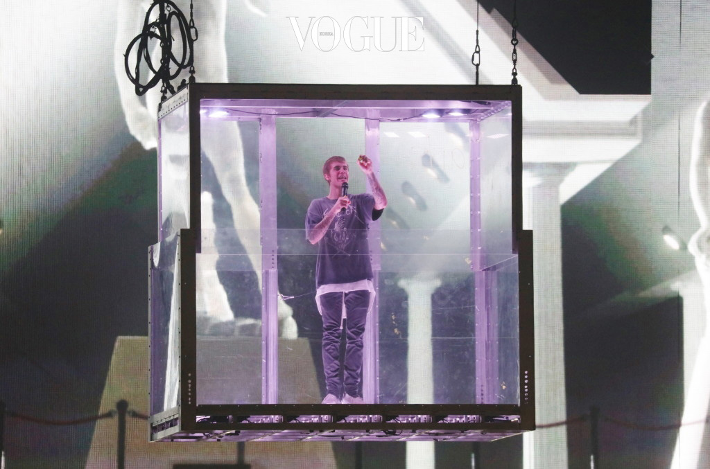Canadian popstar Justin Bieber, 22 performs live on stage for a double sold out gig at Unipol Arena in Casalecchio di Reno, Bologna, during the Purpose World Tour 2016. Pictured: Justin Bieber Ref: SPL1395470  201116   Picture by: Bruno Marzi / Splash News Splash News and Pictures Los Angeles:310-821-2666 New York:212-619-2666 London:870-934-2666 photodesk@splashnews.com