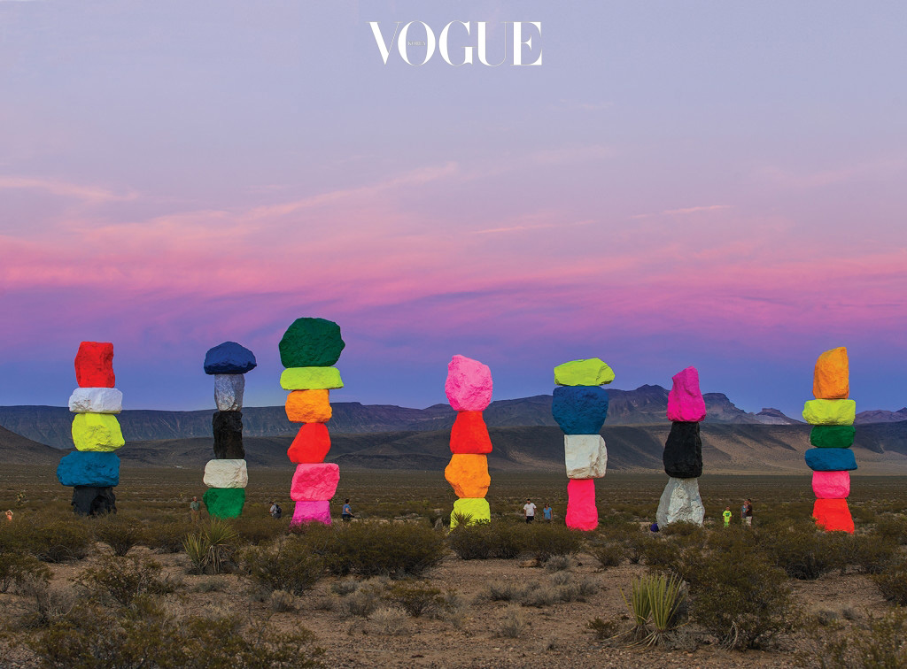 Seven Magic Mountains, Public Art Production Fund and Nevada Museum of Art, Las Vegas, 2016