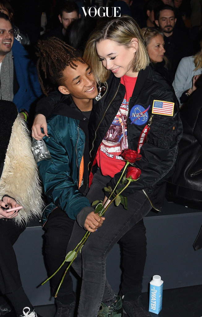 NEW YORK, NY - FEBRUARY 14:   (EDITORS NOTE: Retransmission of #510207704 with alternate crop) Sarah Snyder (R) and actor Jaden Smith attend the Hood By Air Fall 2016 fashion show during New York Fashion Week: The Shows at The Arc, Skylight at Moynihan Station on February 14, 2016 in New York City.  (Photo by Nicholas Hunt/Getty Images for NYFW: The Shows)