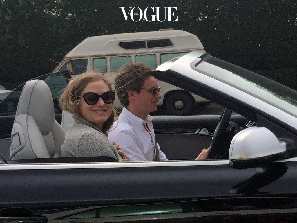 EXCLUSIVE: Oscar winner Eddie Redmayne and his wife Hannah Bagshawe takes a spin around Malibu, CA in a convertible Audi  Pictured: Eddie Redmayne and his wife Hannah Bagshawe Ref: SPL1238670  010316   EXCLUSIVE Picture by: splash News Splash News and Pictures Los Angeles:310-821-2666 New York: 212-619-2666 London:870-934-2666 photodesk@splashnews.com