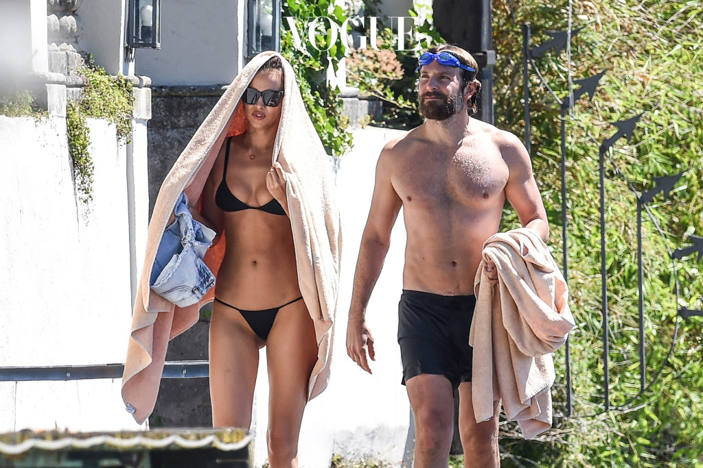 ***NO WEB UNTIL 18.00PM BST JULY 20TH 2016*** Irina Shayk and Bradley Cooper are seen on vacation on July 17, 2016 at Garda Lake, Italy. The supermodel was wearing a black string bikini.  Pictured: Irina Shayk and Bradley Cooper Ref: SPL1321835  200716   Picture by: Splash News Splash News and Pictures Los Angeles:310-821-2666 New York: 212-619-2666 London:870-934-2666 photodesk@splashnews.com