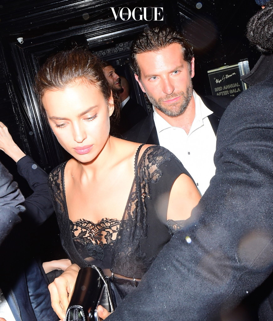 Bradley Cooper and Irina Shayk were spotted arriving to the Met Gala After Party at Up and Down nightclub. The color co-ordinated couple didn't let the rain dampen their parade, as they stunned outside the club. They partied until 4am , before heading home together. Pictured: Bradley Cooper and Irina Shayk Ref: SPL1274476  030516   Picture by: 247PAPS.TV / Splash News Splash News and Pictures Los Angeles:310-821-2666 New York:212-619-2666 London:870-934-2666 photodesk@splashnews.com