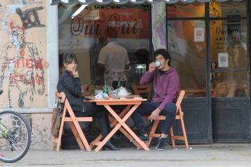 EXCLUSIVE: The pair, both actors, were spotted having breakfast at the Fui Fui restaurant in the Argentinian capital's picturesque Palermo neighbourhood on August 31st.  Pictured: Ursula Corbero with Argentinian boyfriend Chino Darin Ref: SPL1345245  020916   EXCLUSIVE Picture by: Splash News  Splash News and Pictures Los Angeles:	310-821-2666 New York:	212-619-2666 London:	870-934-2666 photodesk@splashnews.com