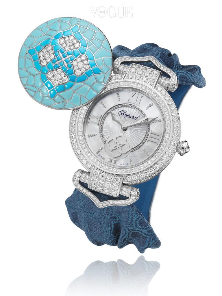 쇼파드(Chopard)의 임페리얼 컬렉션으로 시계 장인과 보석 장인이 함께 만든 합작품. 다이얼의 커버는 콜롬비아 신대륙 발견 전 시대의 모자이크 패턴으로 터키석으로 장식되었다.