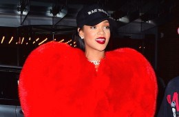 EXCLUSIVE: Rihanna was spotted heading to 1 Oak in NYC on Sunday evening. The ultimate kind hearted person, she surprised one of her favorite paparazzi's, Diggzy from 247Paps.TV , and invited him to the club for his 22nd Birthday. She gave him a big hug as she stepped outside, wearing a giant Red Heart jacket. She smiled happily as he gave her a kiss on the cheek, before the two headed inside 1Oak Nightclub at 3:30am. They stayed inside until 5am. She gave him a big shoutout, and even bought him a bottle of Ace of Spades Champagne to celebrate his big night.   Pictured: Rihanna, Diggzy Ref: SPL1346379  050916   EXCLUSIVE Picture by: 247PAPS.TV / Splash News  Splash News and Pictures Los Angeles:	310-821-2666 New York:	212-619-2666 London:	870-934-2666 photodesk@splashnews.com