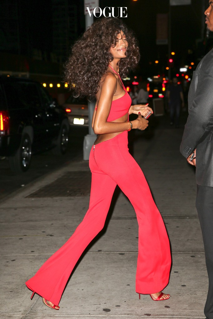 Model, Jourdan Dunn is all smiling while attending a Soul Train-Themed Birthday Party in New York City, USA. Pictured: Jourdan Dunn Ref: SPL1346911  060916   Picture by: Felipe Ramales / Splash News Splash News and Pictures Los Angeles:310-821-2666 New York:212-619-2666 London:870-934-2666 photodesk@splashnews.com