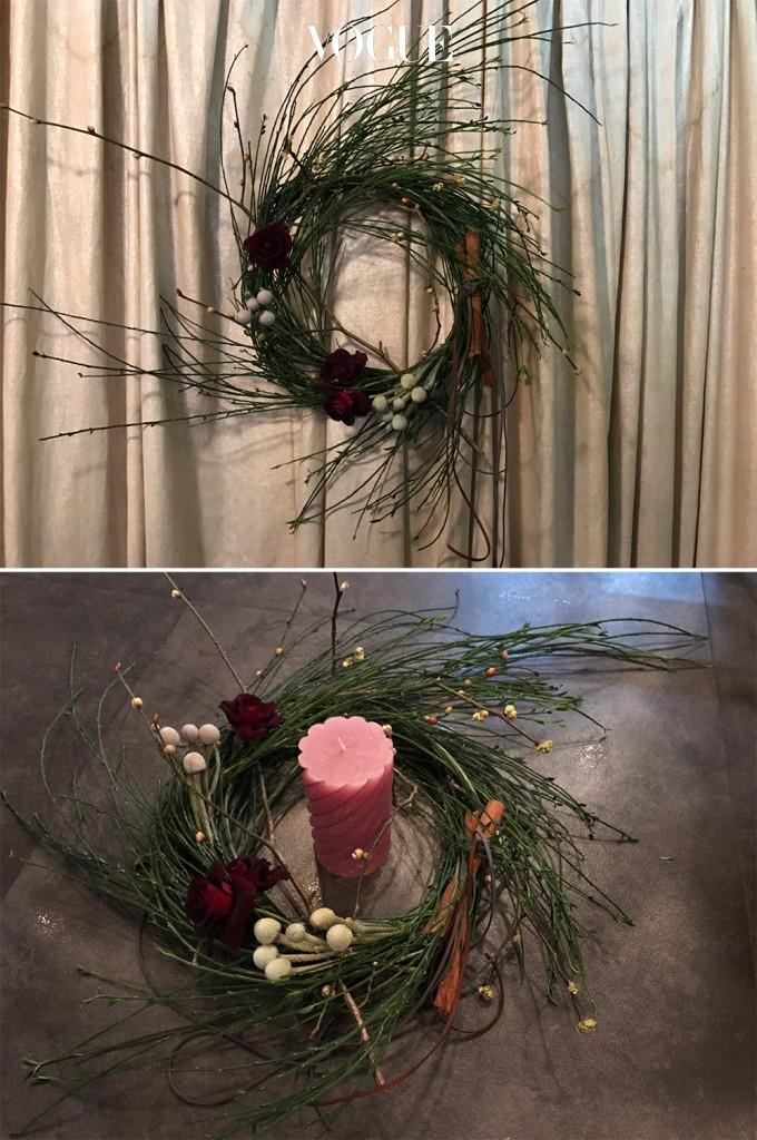 성탄 분위기 물씬 풍기는 리스와 캔들링 완성! Merry Christmas!