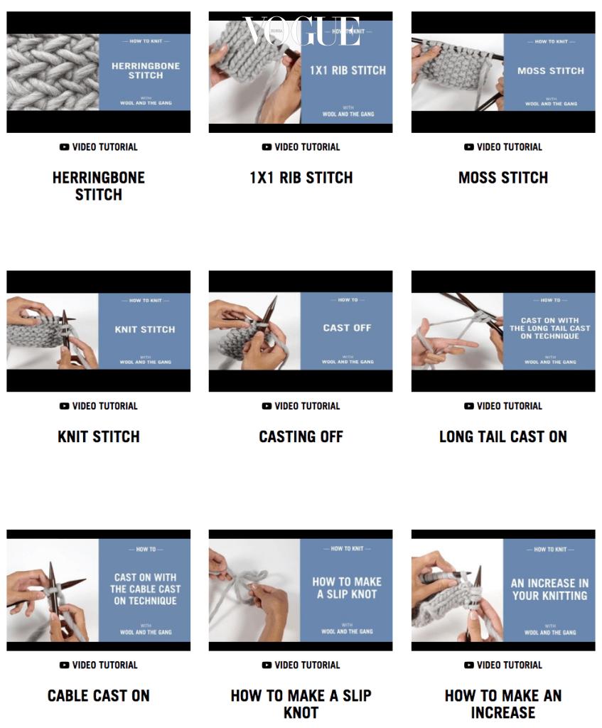 울 실로 유명한 '울 앤더 갱' 홈페이지를 방문하면 다양한 뜨개질 방법을 무료로 배울 수 있답니다!