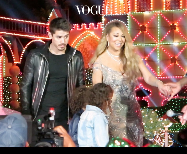 EXCLUSIVE: Mariah Carey is joined on stage and backstage by her backup dancer Bryan Tanaka at Disneyland before and after her performance at the happiest place on earth. Tanaka was seen keeping close to Mariah while she was backstage and after the performance she accompanied Mariah and her two children off stage. he stayed close to her the whole time except for during her performance, as the only dancers that for the performance were kids. please see accompanying video Pictured: Mariah Carey and Bryan Tanaka Ref: SPL1395238  171116   EXCLUSIVE Picture by:  Splash News Splash News and Pictures Los Angeles:310-821-2666 New York:212-619-2666 London:870-934-2666 photodesk@splashnews.com
