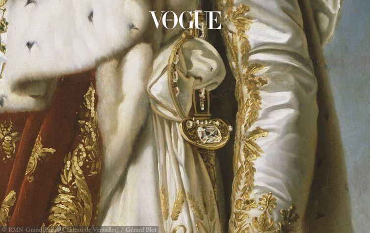 1802년에 치뤄진 황제 대관식에 사용된 나폴레옹의 다이아몬드 검. 140캐럿의 리젠트 다이아몬드가 세팅되었다.